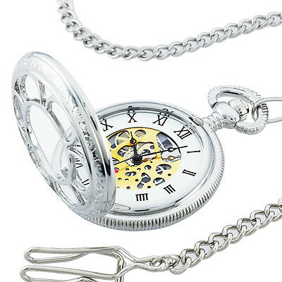 Collectible Silver Kansas City Railroad Pocket Watch - As Seen on TV
