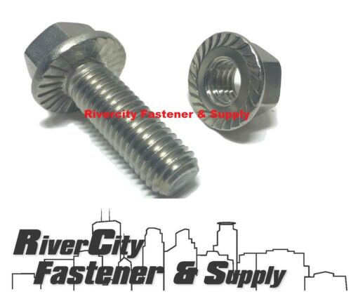 5//16-18x3//4 Stainless Serrated Hex Head Flange Bolts Screws 5//16x18x3//4 100