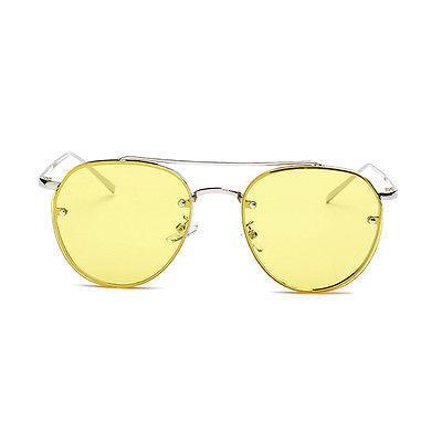 Colorful Ocean Glasses Lens Sunglasses Alloy Frame Vintage UV400 Eyewear CU