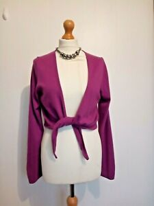 Marks-And-Spencer-Cashmere-Angora-Mix-Purple-Bolero-Shrug-Size-14