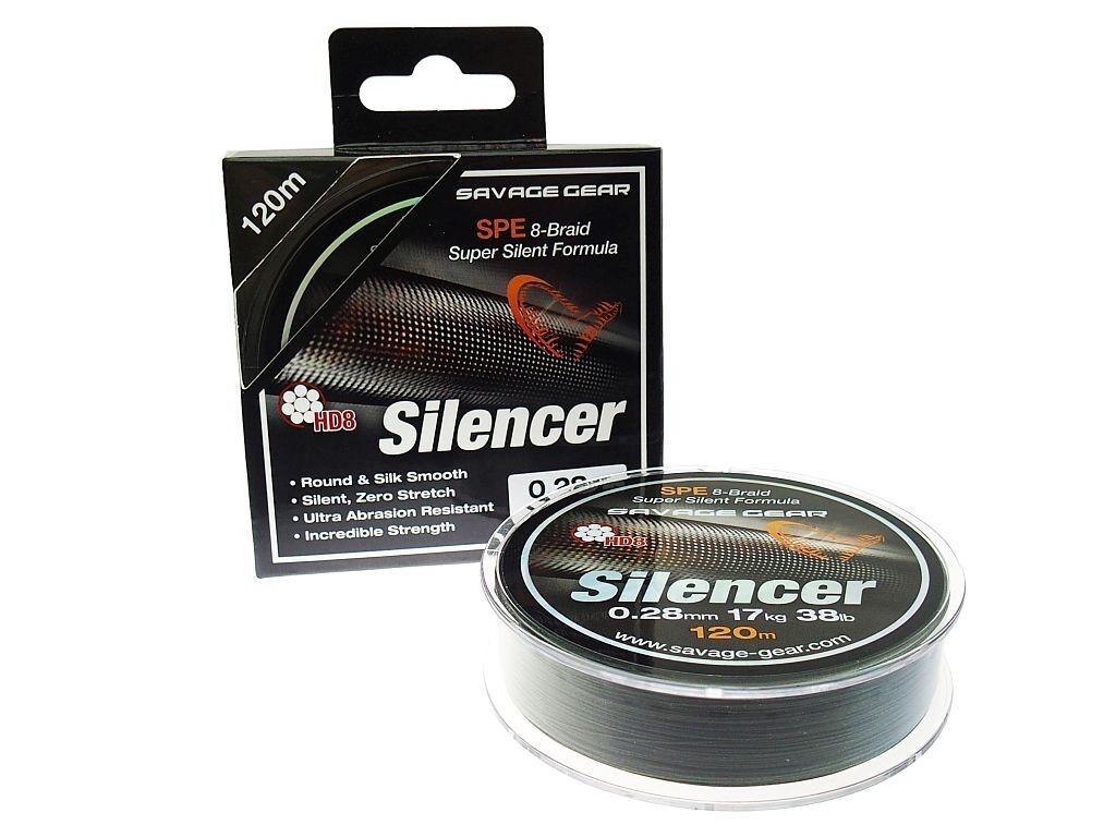 Savage Gear HD8 Silencer Braid 300m, 0,12-0,23mm ligne de pêche tresse