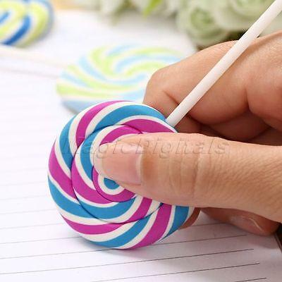 Cute Novelty lollipop Rubber Pencil Eraser School Office Stationery Kid Toy Gift