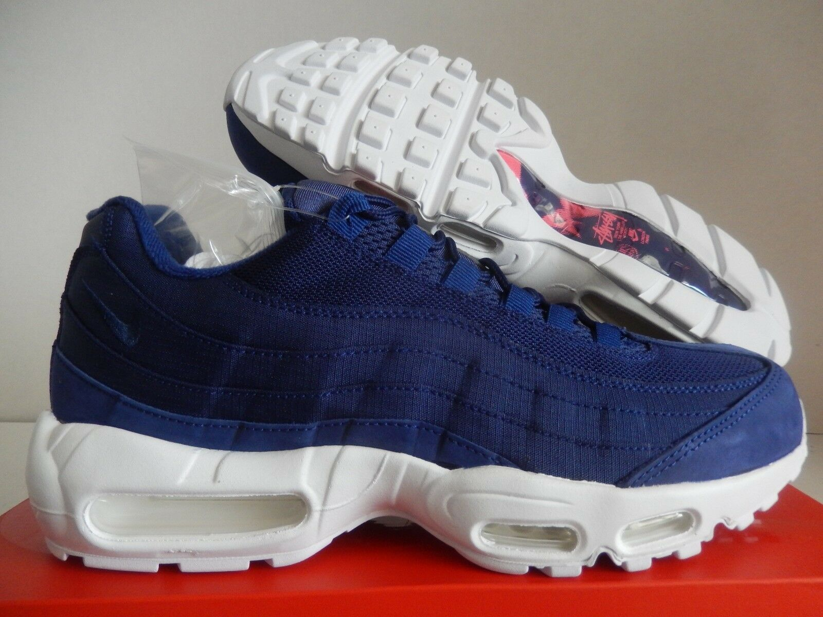 NIKE AIR LOYAL MAX 95 / STUSSY LOYAL AIR BLUE-LOYAL BLUE-WHITE SZ 11 RARE! [834668-441] 31e76b