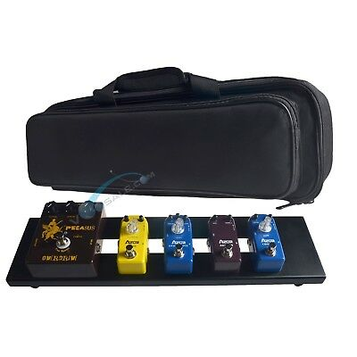 azor ab 101 guitar effect pedal board aluminum alloy with durable bag pedalboard 619317860957 ebay. Black Bedroom Furniture Sets. Home Design Ideas
