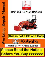 Kubota Bx1860 Bx2360 Bx2660 Repair Service Manual Mower Amp Front Loader Manual