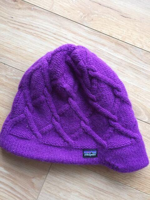 781e835c61c Patagonia Cable Knit Fleece Lined Toque Hat Purple