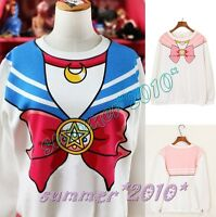 Sailor Moon Chibisa Harajuku Sweater Print Top Cute Kawaii Cosplay Japan Anime