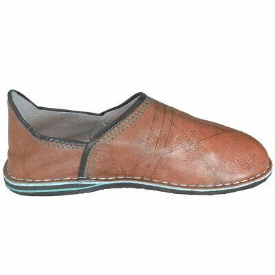 Marokkanische Babouche Gelb Orientalische Leder Schuhe Slipper Marokko Pantoffel
