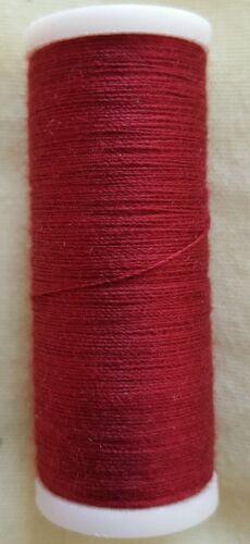 pour la main ou machine. Nouveau Haute Qualité 1 X Bourgogne 180 m coton fil à coudre