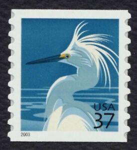 #3829 37c Snowy Egret ,Nuevo Cualquier 5=