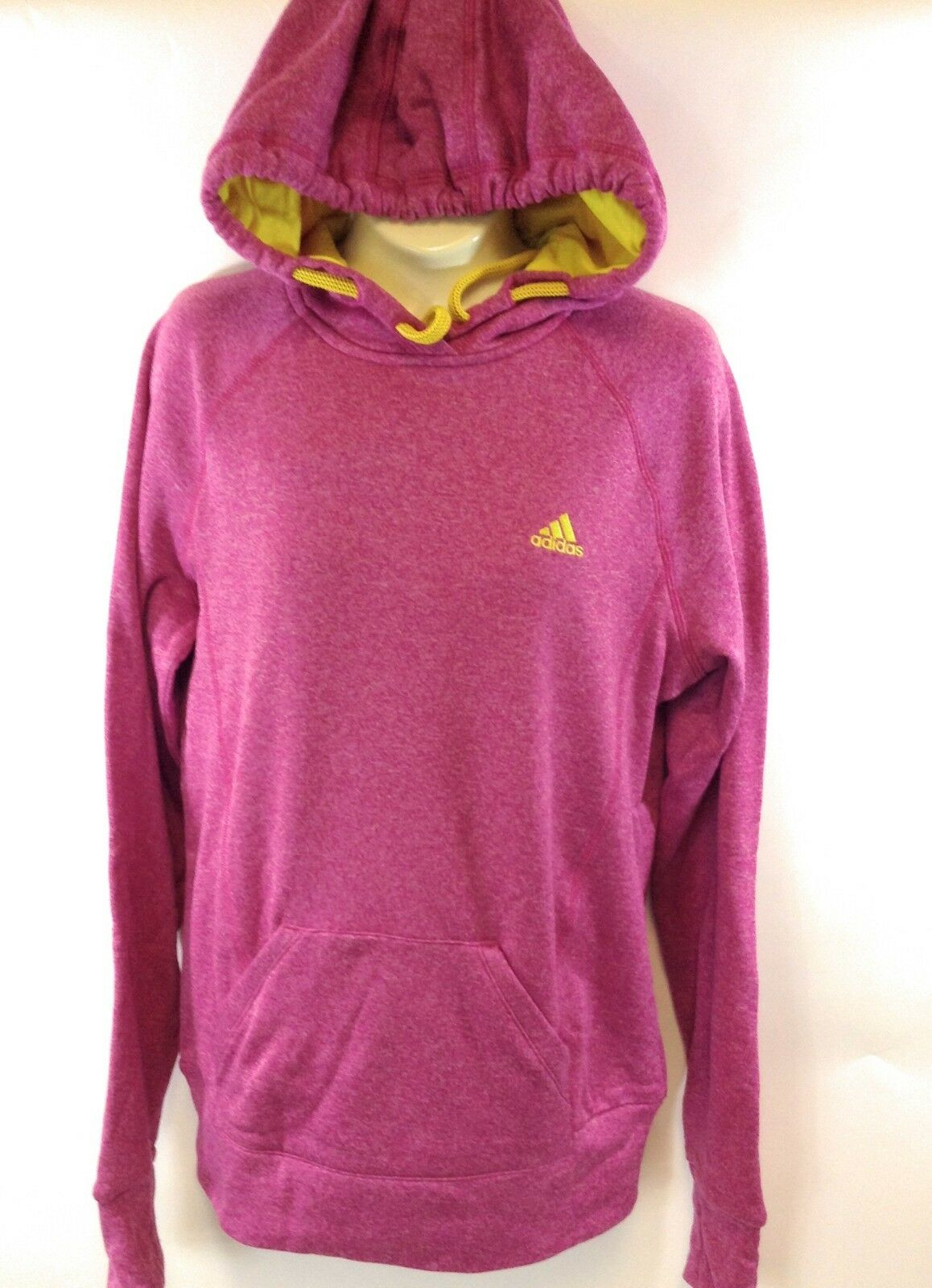 NEW Womens ADIDAS ADIDAS ADIDAS Ultimate G86098 Blast Pink Yellow Pull Over Hoodie Sweatshirt 519723