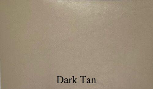 DARK TAN : Outdoor Upholstery Vinyl - Faux Leather - Marine / RV / Automotive