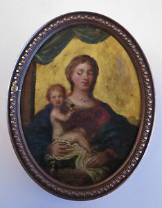 Italy xviith. rare painting on copper. copper plaque in grooves. copper.