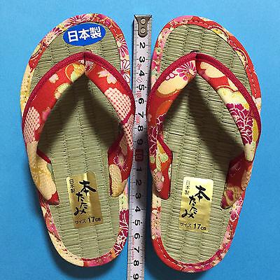 F//S Japanese Tatami Straw mat Zori Sandals Cute Kawaii for girl 19cm from Japan