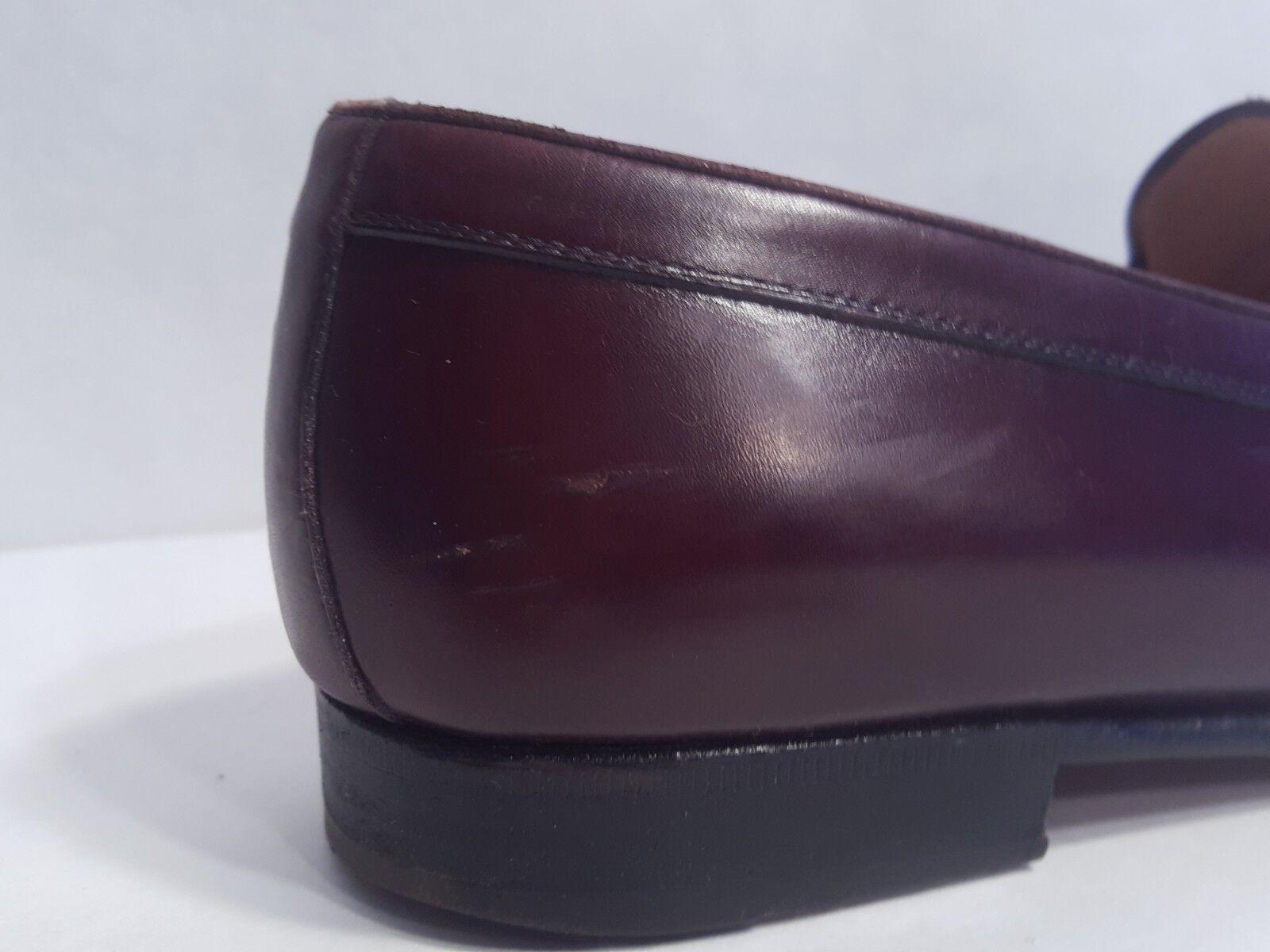 EUC Bally Arturo Leder Tassel Loafers Mahogany Braun Braun Mahogany Made in  Größe 8 D 28ad22