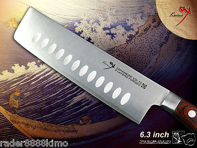 "Classic Japanese VG10 steel Vegetable Usuba 6.3"" Nakiri Knife Chef's Cutlery"