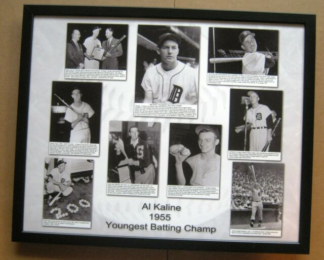 "Detroit Tigers Al Kaline ""Youngest Batting Champ"" 16 x 20 photo collage - 1955"