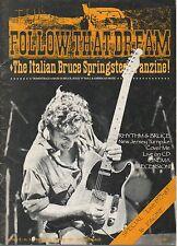 BRUCE SPRINGSTEEN Follow That Dream Italian fanzine # 3