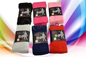 Lot-6-Pair-Girl-Fashion-Tights-Warm-Solid-Soft-Winter-Cozy-XS-S-M-L-XL-Pantyhose