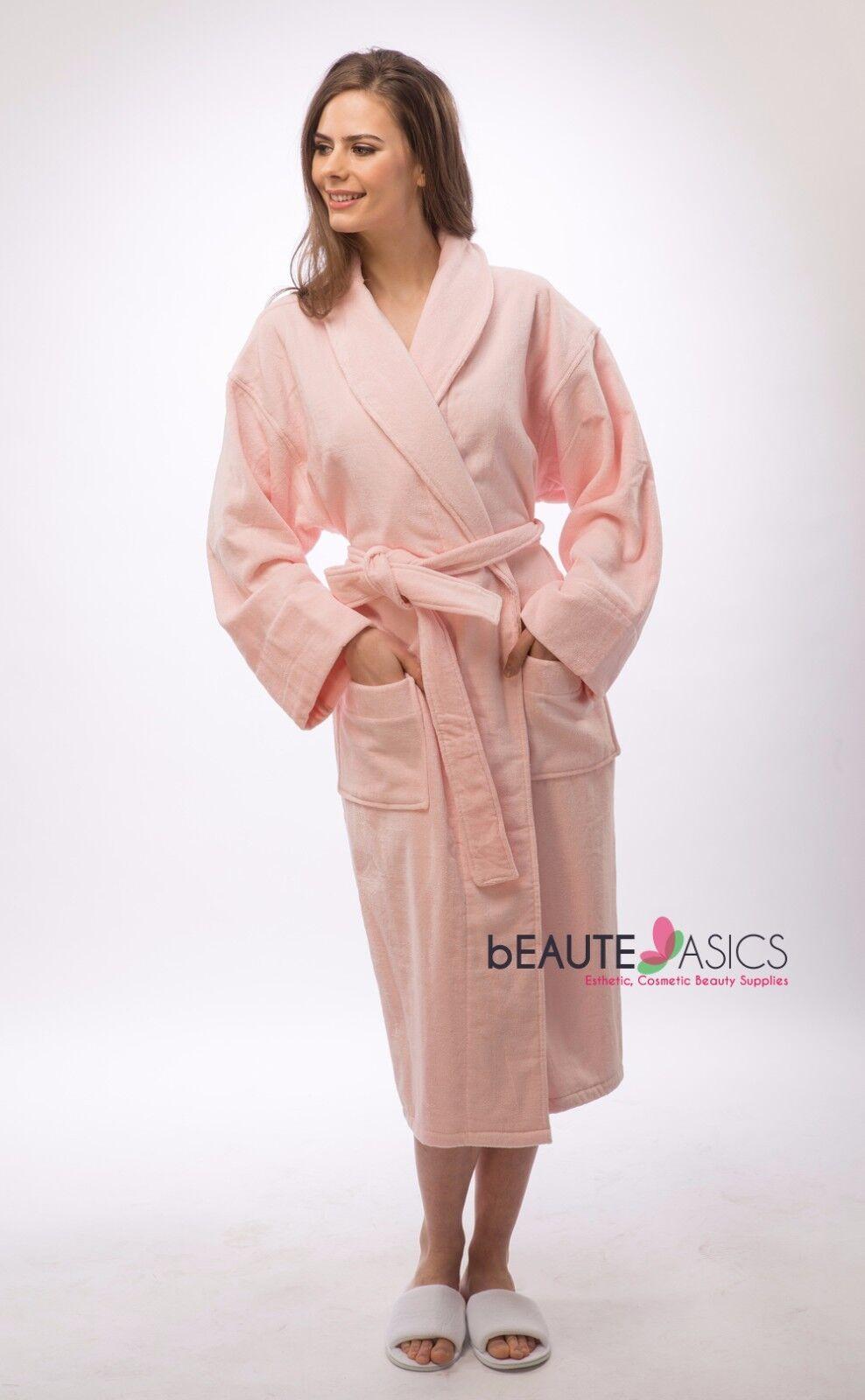 #AR111P x1 Luxury Spa Robe 100/% Cotton Bathrobe Peach Pink
