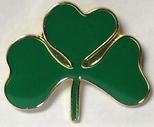 ST PATRICK'S DAY SHAMROCK IRISH CLOVER LAPEL PIN HAT TAC NEW