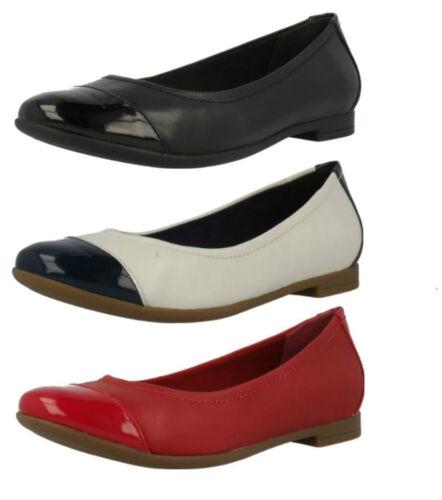 Clarks y Red en zapato plano rojo estilo deslizamiento D cuero disponible En Atomic negro combi Fit el Haze raUvrqpw