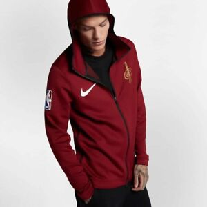 4ef9a0119fa1 Nike NBA Cleveland Cavaliers Cavs Therma Flex Hooded Team Jacket Red ...