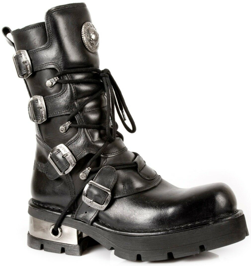 NEWROCK NR M.373 S1 black Bottes - New Rock Boots - Unisexe