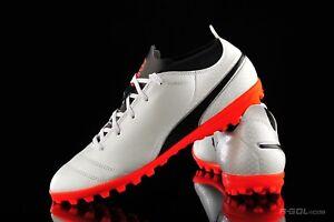 Detalles de Nuevo Puma uno 17.4 TT Jr zapatos de fútbol de césped Jóvenes Niños Blanco Negro Coral 104247 01 ver título original