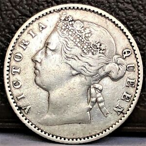 Details about Straits Settlements 10 Cents 1883 Queen Victoria Silver XF  Rare Coin