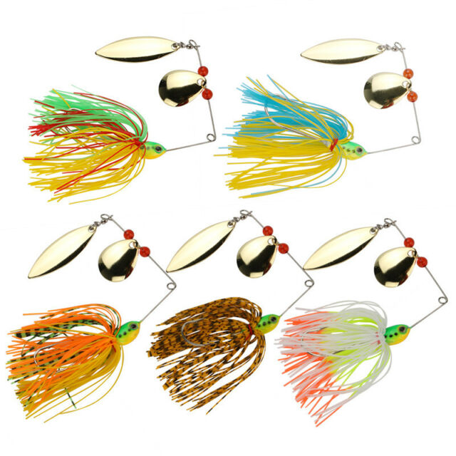 Lot 5pcs Metal Fishing Lures Spinner Baits Bass Tackle Spoon Lure for Bass