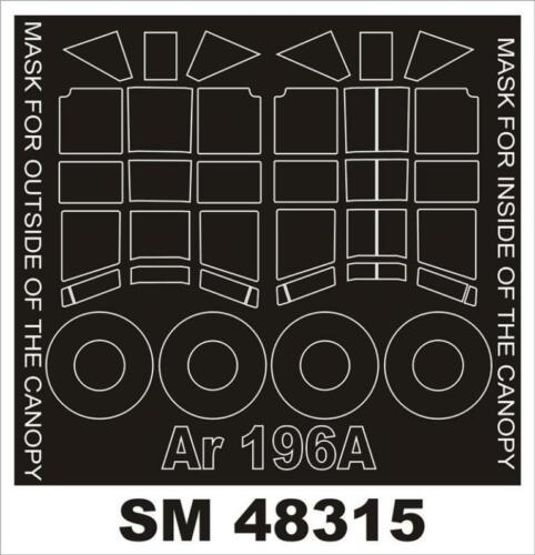 Montex Mini Mask 1:48 Shipboard Arado 196 for Italeri Spraying Stencil #SM48315