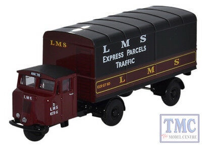 76mh019 Oxford Diecast 1:76 Scale Scammell Mechanical Horse Van Trailer Alleviare I Reumatismi