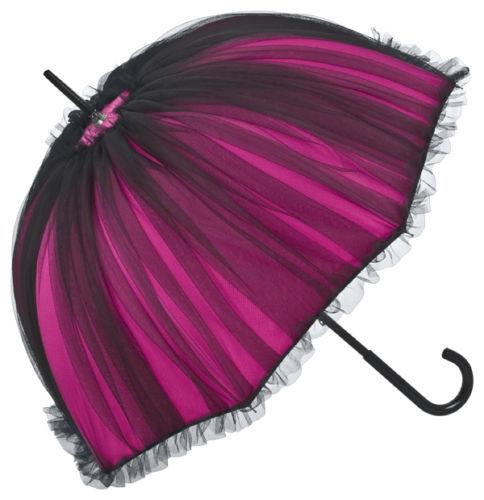 rot schwarz Neu Design-Schirm von Chantal Thomass creme Spitze