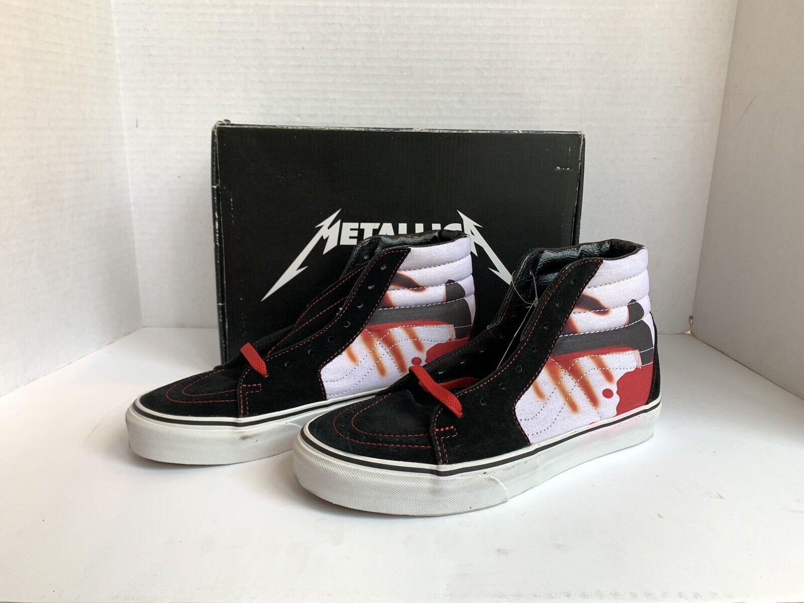 Vans Sk8-Hi Metallica Kill'em All  Neuf avec étiquettes pour homme taille 8 9.5 W