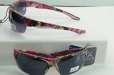 WHOLESale LOT 6 WOMENS CAMO HOT PINK /SMOKE LENS  HALF JACKET SUNGLASSES 56313