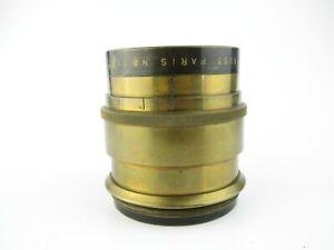 E-Krauss-Paris-Tessar-1-6-3-F-50cm-Messingobjektiv-brass-lens-17-blades