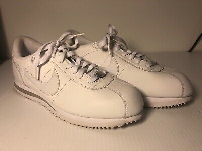 nike cortez '72 white leather mens sneakers sz 9 running