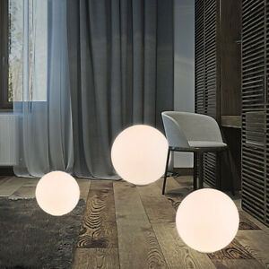 Simple Design Globe Glass Shade White Floor Lamp Light Round Base