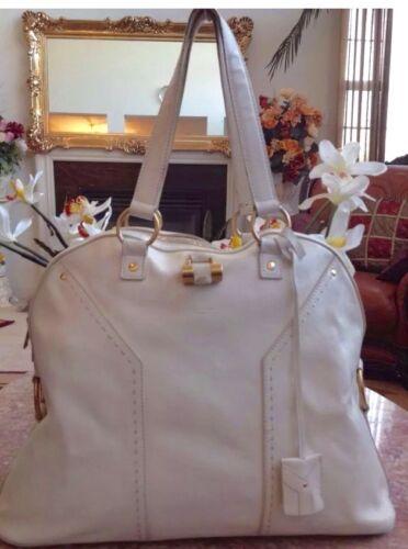 Authentischer Saint Elfenbein white Bergre Muse Satchel Bag Laurent Off Yves Ysl rBq5wrF