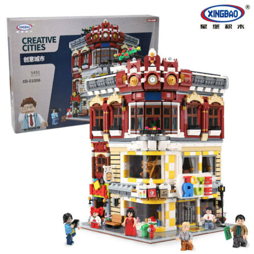 Xingbao Building Blocks Easter Toystore Bookstore Modell Toy Gifts Child 5491PCS