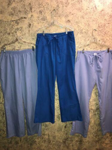3 medical dental vet nurse scrubs pants L blue cei