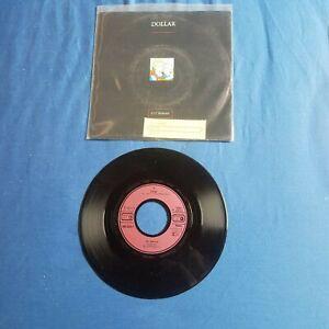 """Vinyl 7"""" Singel..DOLLAR...VG ++ / VG ++... mit Einleger....Jahr 1987"""