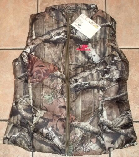 Womens Mossy Oak CAMO BUBBLE VEST~size MEDIUM LARGE XL~NWT~LINED~Brown~HUNTING