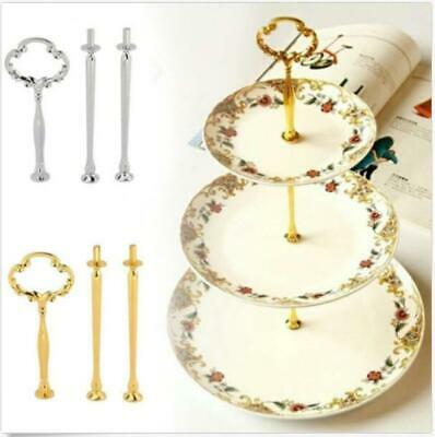 3-10 set 3 Tier Gold Cake Plate Stand Handle Fittings Fruit Food Server Display