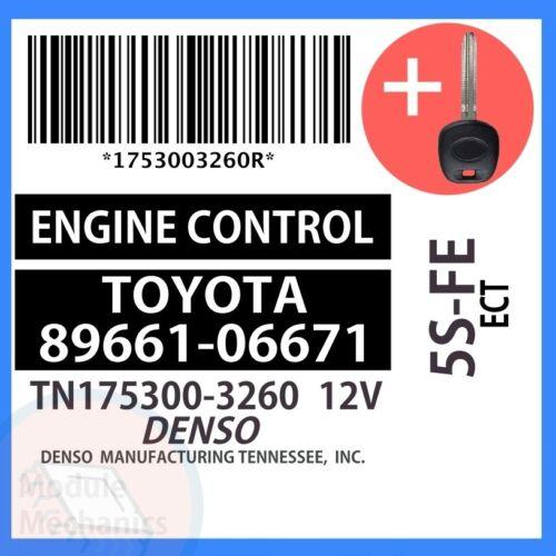 89661-06671 W// PROGRAMMED TRANSPONDER KEY 1999 99 Toyota Camry OEM ECU ECM BCM