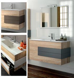 Arredo bagno mobile sospeso legno 100 specchiera appl lavabo porcellana cronos ebay - Ebay arredo bagno ...