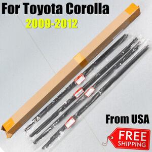 For 2007-2012 Toyota Corolla 4pcs Weatherstrip Window Moulding Trim Seal Belt US