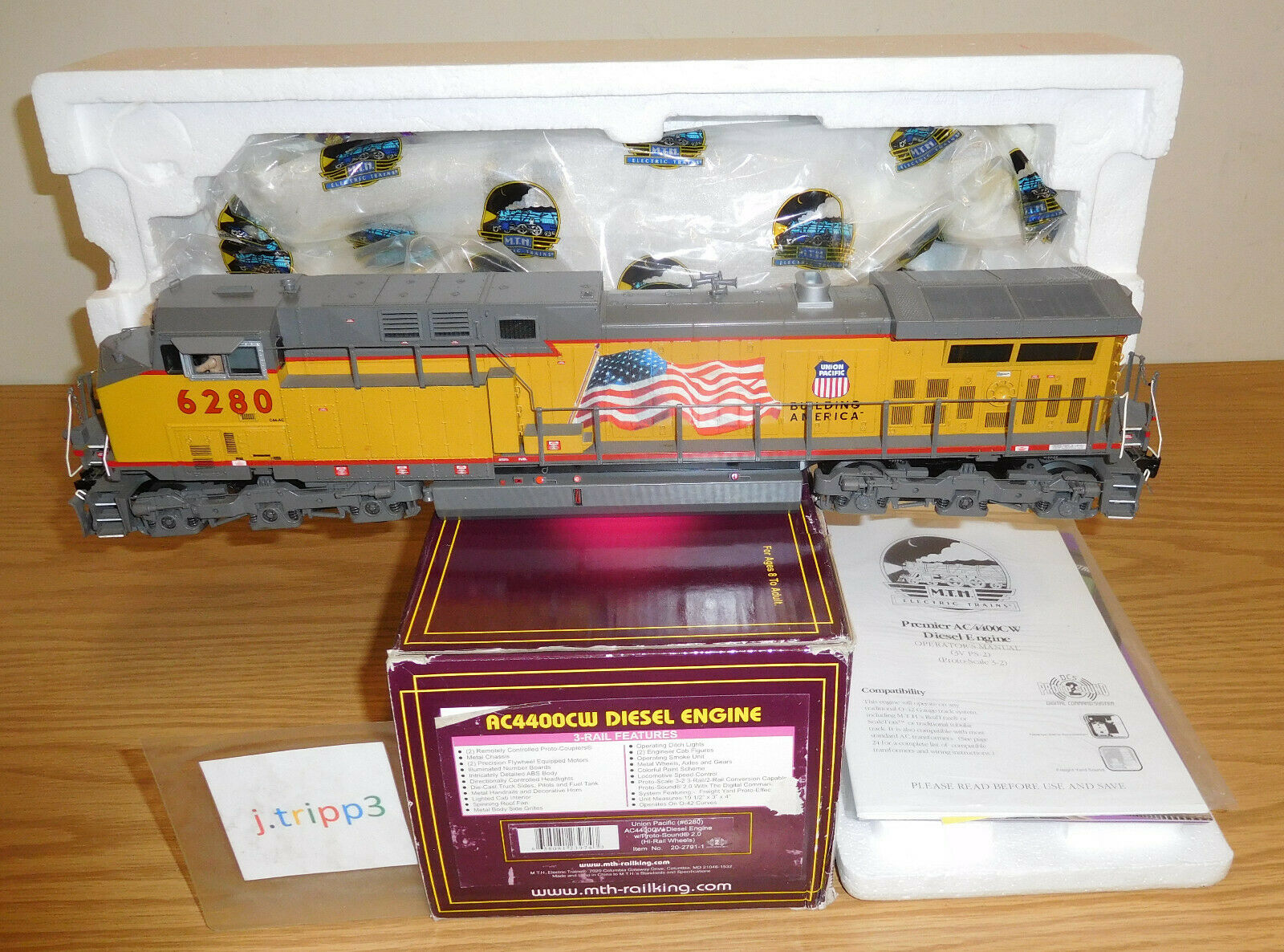 Mth Union Pacific up ac440ocw Diesel Engine o