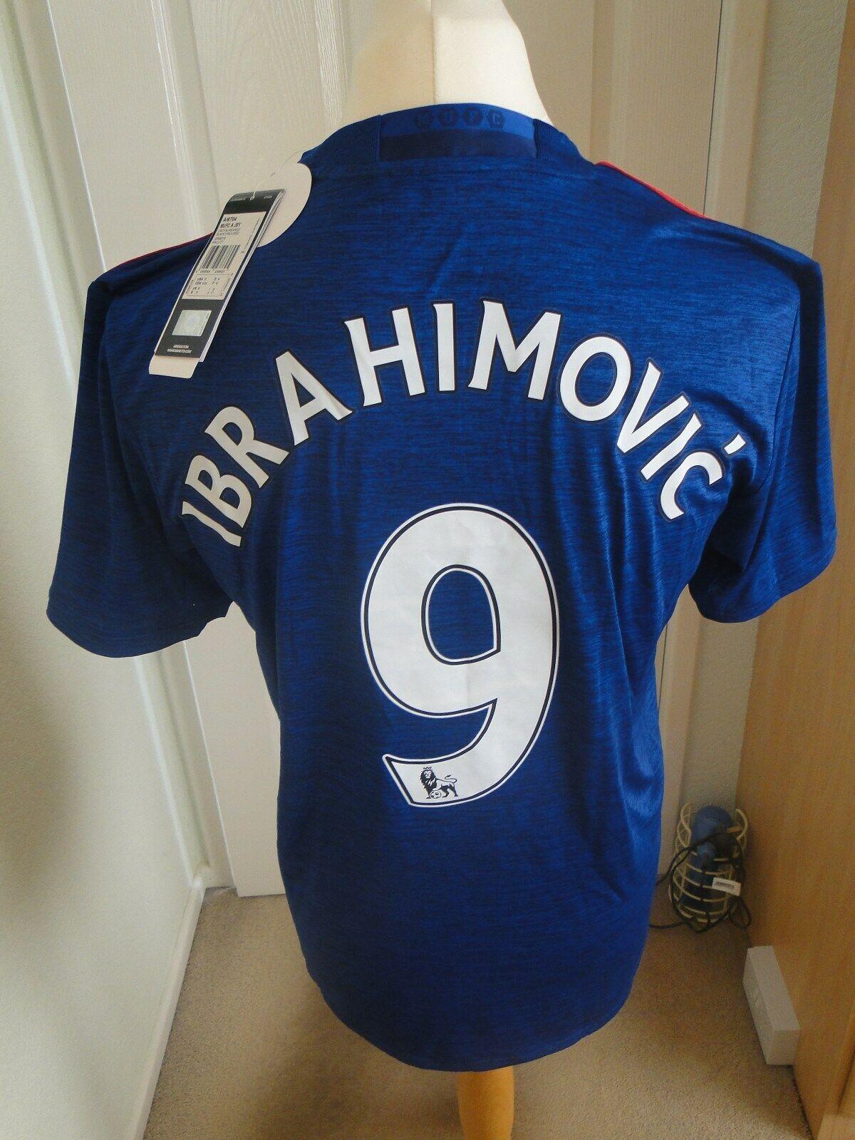 IBRAHIMOVIC  uomo Utd Away Camicia 201617 NUOVO con etichetta taglia media